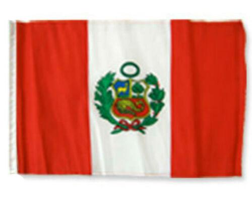 """12x18 12/""""x18/"""" Peru Sleeve Flag Boat Car Garden"""
