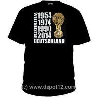 T-Shirt: Weltmeister 2014 Deutschland Pokal Brasilien