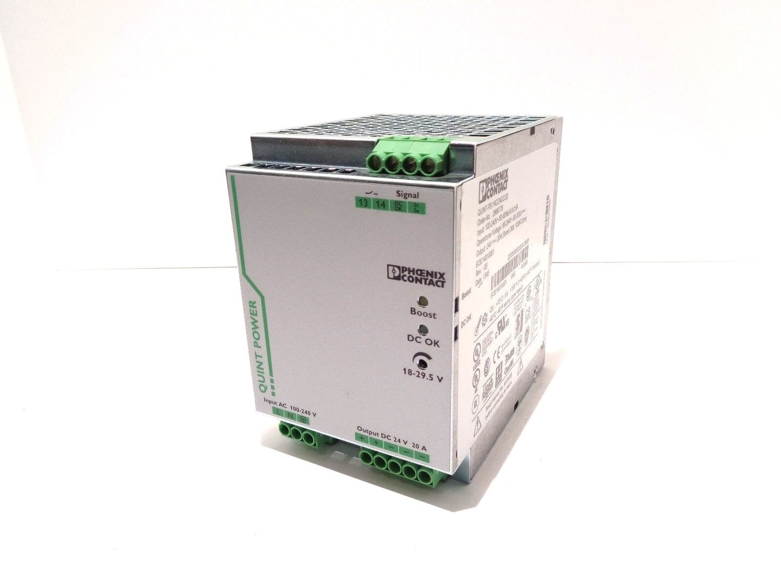 Phoenix Contact QUINT-PS//1AC//24DC//20 Power Supply MPN 2866776