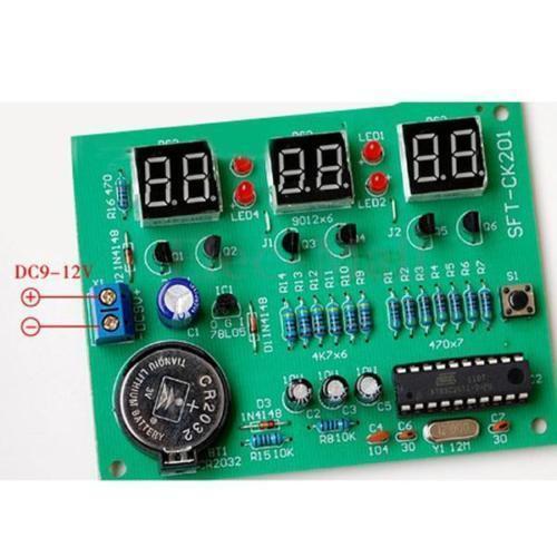 DIY Kit Module 9V-12V AT89C2051 6 Digital LED Electronic Clock Parts SS
