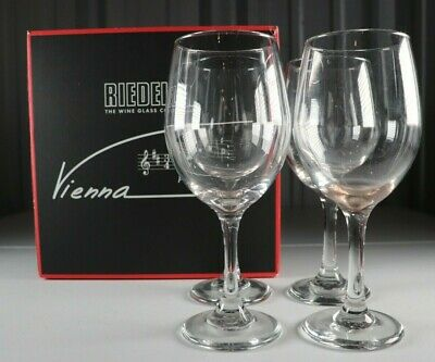 Riedel Vienna Medium Bodied Red Wine Crystal Glass Set of 4 In Box Germany | eBay