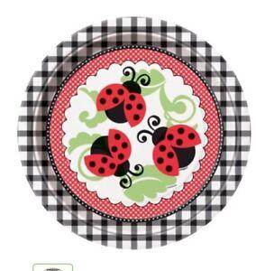 Ladybug Birthday Party Supplies Large Dinner Plates