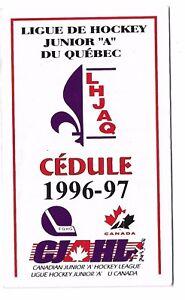 CJAHL-CANADIAN-JUNIOR-A-HOCKEY-LEAGUE-1996-97-OFFICIAL-SCHEDULE