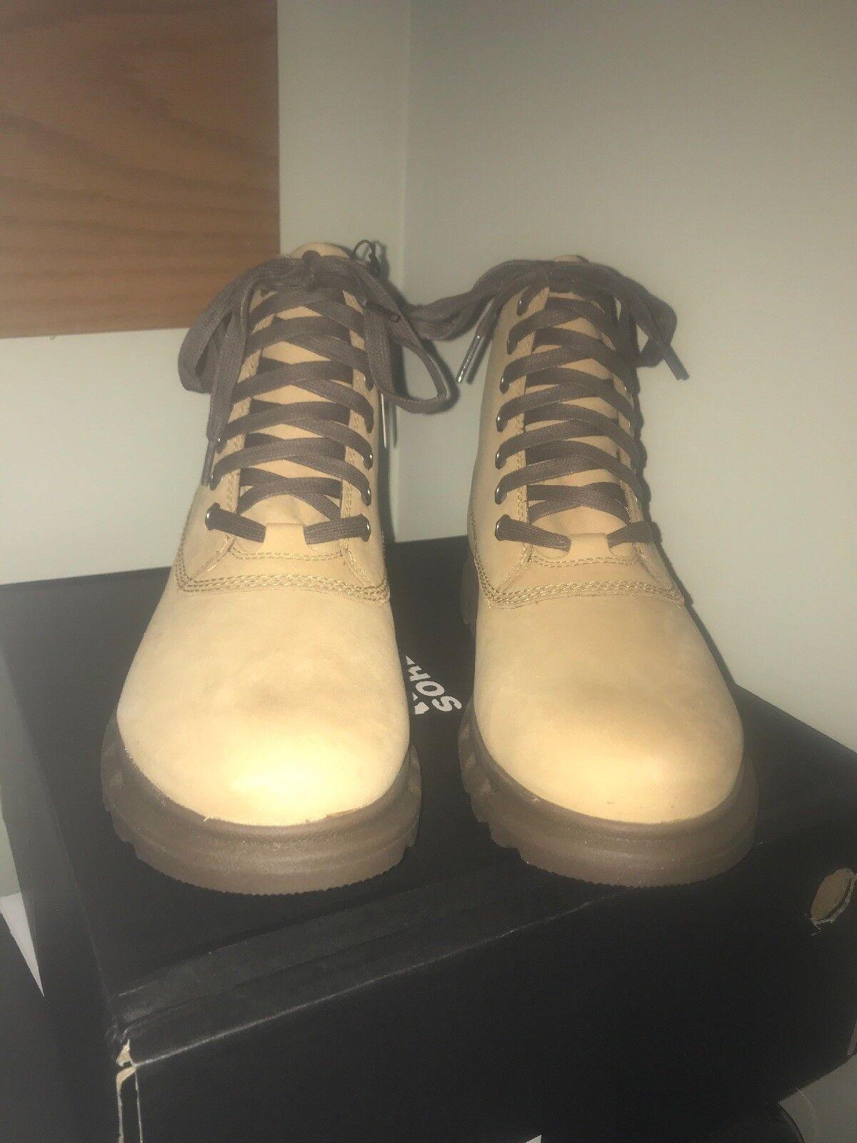 NIB Sorel Uomo Portzman Lace stivali - Buff / Hawk - size 8 - retail  160