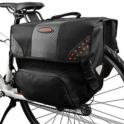 Ibera Bicycle Side-Mounting Pannier Set, Bike Panniers with Multi-Compartments,