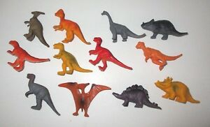 """12 Small Plastic Dinosaurs 1-2"""" - Great for Cake Toppers - More than 1 Available"""