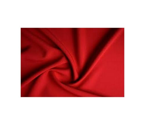 BRIGHT RED Plain Dress Material Drape Polyester Clothing Trousers Panama Fabric