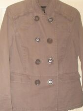 LADIES COTTON JACKET DEBENHAMS COLLECTION SIZE 12 LIGHT BROWN - MINK