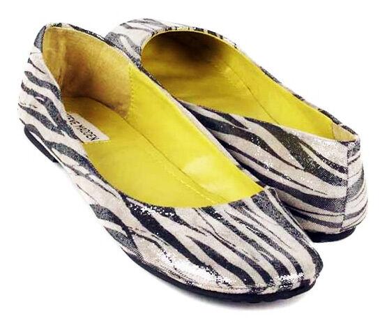NEU STEVE MADDEN Damens Leder Slip On Casual Comfort Flat Ballet Schuhe Sz 9.5 M