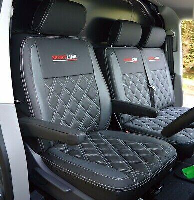 VW TRANSPORTER T2//T3//T4//T5//T6 HEAVY DUTY WATERPROOF BLACK SINGLE VAN SEAT COVER