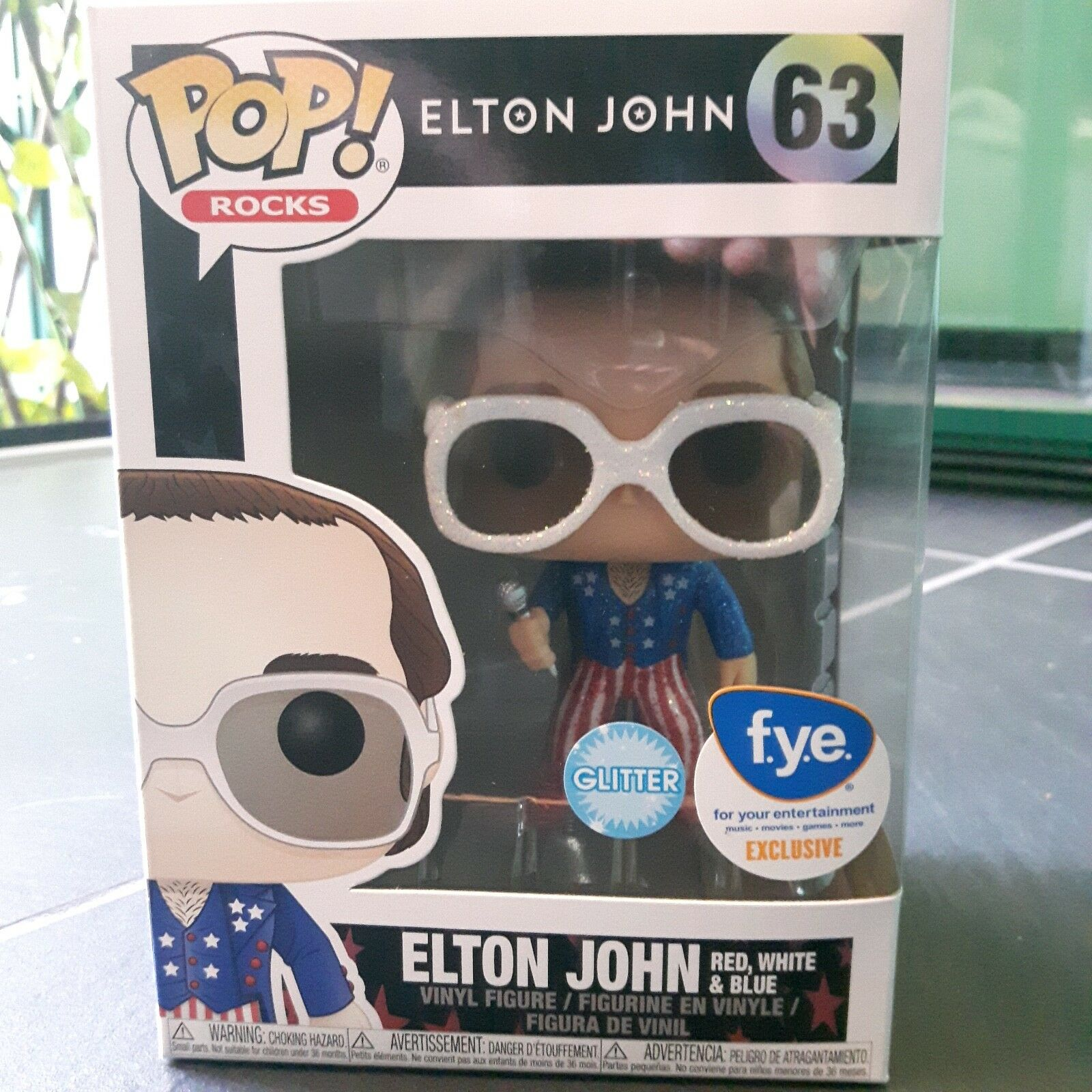 Funko Pop Elton Jonh FYE Exclusive Glitter 63 unico in IT