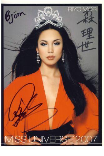 +Autogramm+ ++Miss Universe 2007++ Mori Riyo