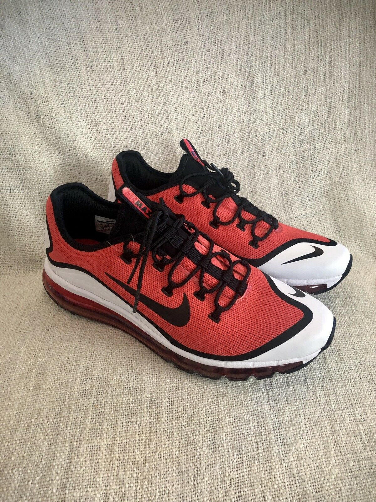 Nike Air Max More Habablack Red Black White AR1944 600  Men's Size 13
