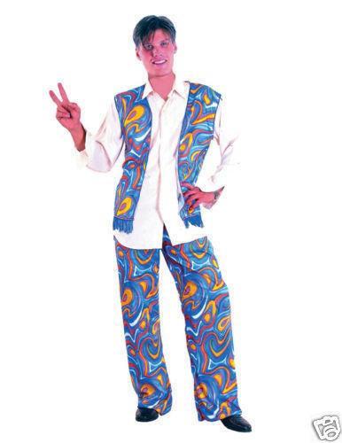 ADULT MENS HIPPIE DUDE 70/'S HIPPY FANCY DRESS COSTUME