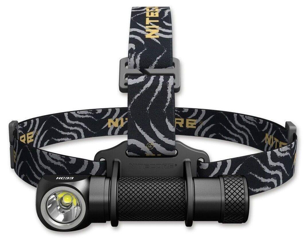 Nitecore HC33 Kopflampe Winkellampe 1800lm Cree XHP35 HD & Ni-Glo Ni-Glo & Safety Marker bd8894