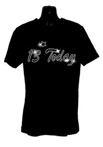 Image Is Loading KIDS 13 Today 13th Birthday T Shirt Crystal