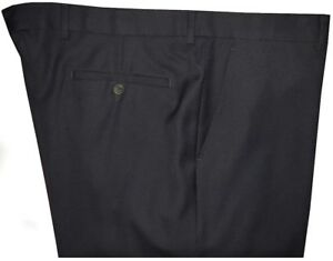 MINT-DUNHILL-MIDNIGHT-NAVY-TWILL-WOOL-MENS-NO-PLEAT-DRESS-PANTS-MADE-IN-ITALY-40