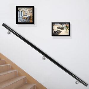 Aluminum-Modern-Handrail-for-Stairs-5ft-Length-Black-FACTORY-DIRECT-STREET-PRICE