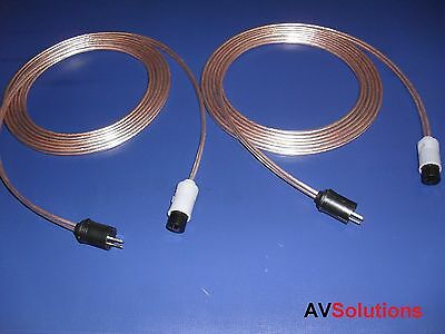 18 Metres - Speaker Cables (2-pin Din P-s, Pair, Shq) For Bang & Olufsen B&o Cx Uitstekende (In) Kwaliteit