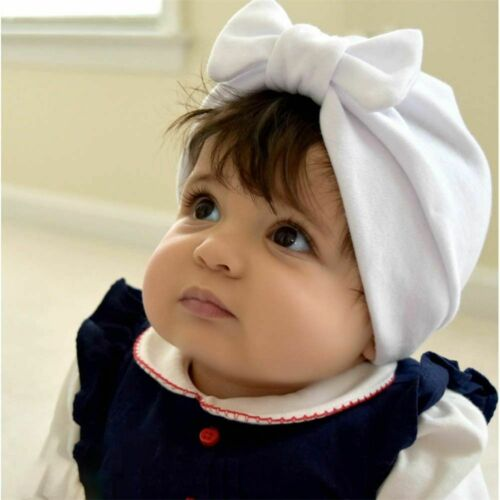 Baby India Hats Toddler Hair Accessories Girl Cotton Turban Bow Cap Boy Beanie