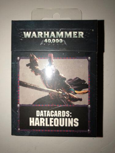 Warhammer 40000 40k Aeldari Harlequins 8th Ed Datacards Data Cards sealed
