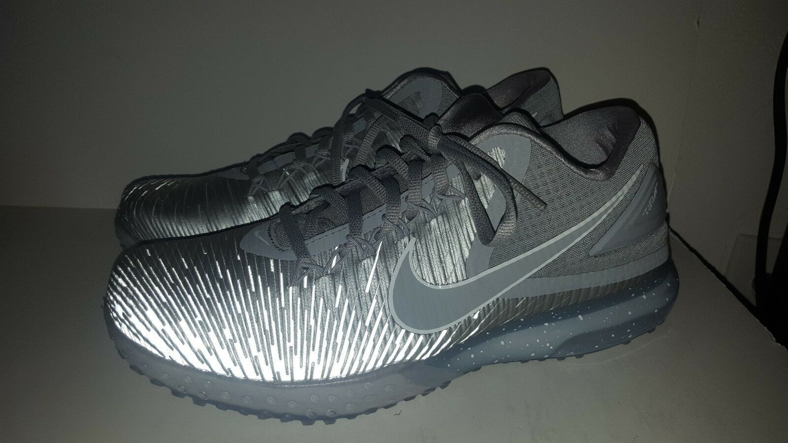 NIKE ZOOM TROUT 3 TURF BASEBALL CLEATS SHOES 844628 011 WOLF GREY (MEN'S 8