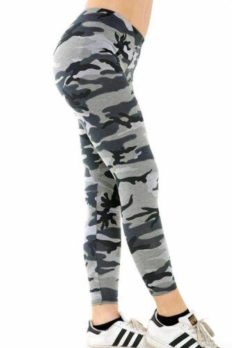 Nouveau Débardeur Femme Casual Stretch Imprimé Camouflage Filles Leggings Plus Taille 8-22