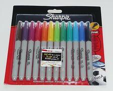 SHARPIE Fine Permanent Marker. 12 colori assortiti.