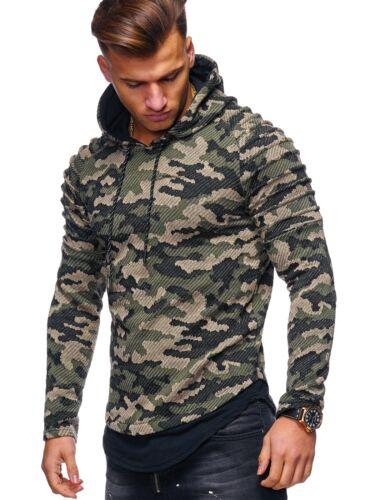 MT Styles hoodie Henley Pullover Troyer con cappuccio Pullover Nero//Cachi//Grigio Nuovo