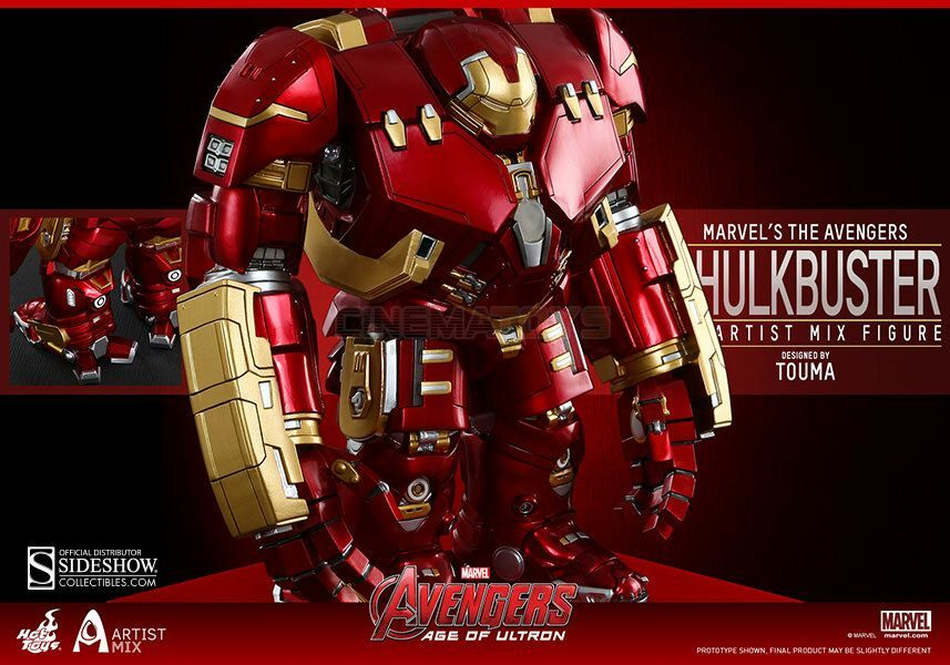 Battle Damaged Iron Man Mark XLIII and Hulkbuster Artist Mix Collection Hot Toys