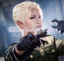Blonde APH Axis Powers Hetalia Germany Ludwig Short Anime Cosplay Wig