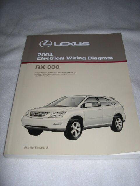 2004 Lexus Rx330 Rx 330 Electrical Wiring Diagram Service Shop Repair Manual