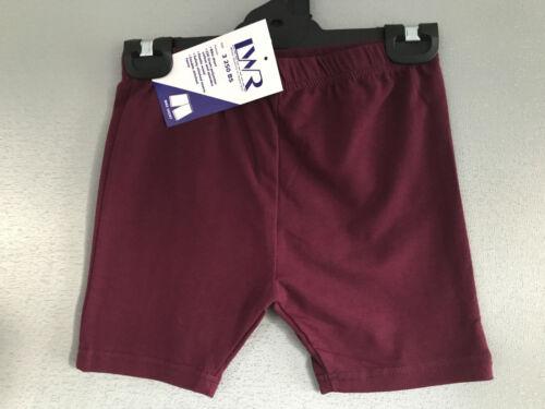 BNWT Girls Sz 12 LW Reid Maroon Elastic Waist School Sport Athletic Bike Shorts