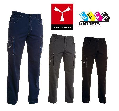 Pantalone da Lavoro Unisex Payper Texas Multistagione in cotone 100/% con tasche