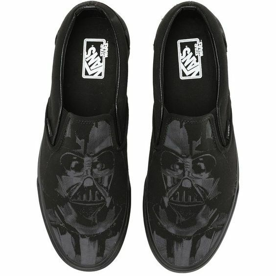Vans X Star WARS Classic Slip On Shoes! Darth Vader Dark Side!