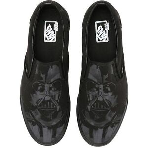 16e248455b Vans X Star WARS Classic Slip On Shoes! Darth Vader Dark Side!