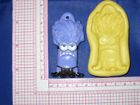 Despicable Me Evil Minion Flex Silicone Push Mold Fondant Resin Clay A476 Candy