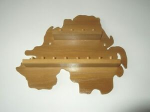 huge range - see list Pine 12pc Butterfly Wooden Thimble Display Rack