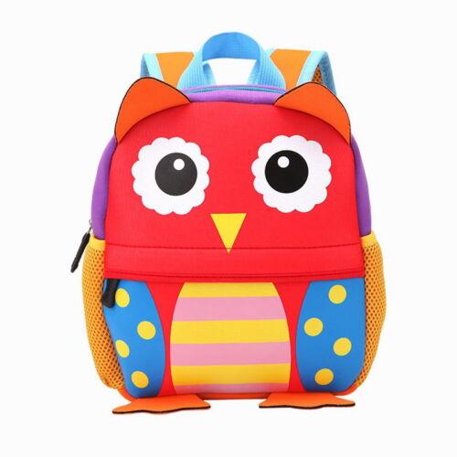 3D Cute Animal Print Baby Kids Toddler Backpack School Bags for 3-6Y Girls Boys