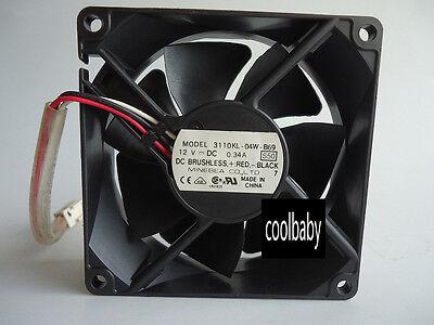NMB-MAT 3110KL-04W-B69 fan 80*80*25mm  12V 0.34A 3pin