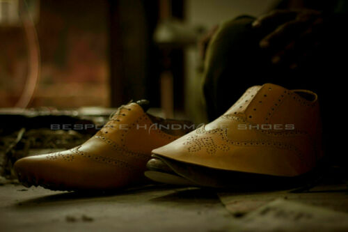 Details about  /Handmade Men/'s Genuine Brown Leather Loafers Tassels Formal Shoes US304