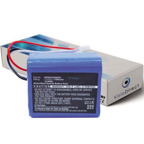 Batterie 7.2V 1500mAh pour iRobot Braava 380 380T Mint Plus 5200 Plus 5200C