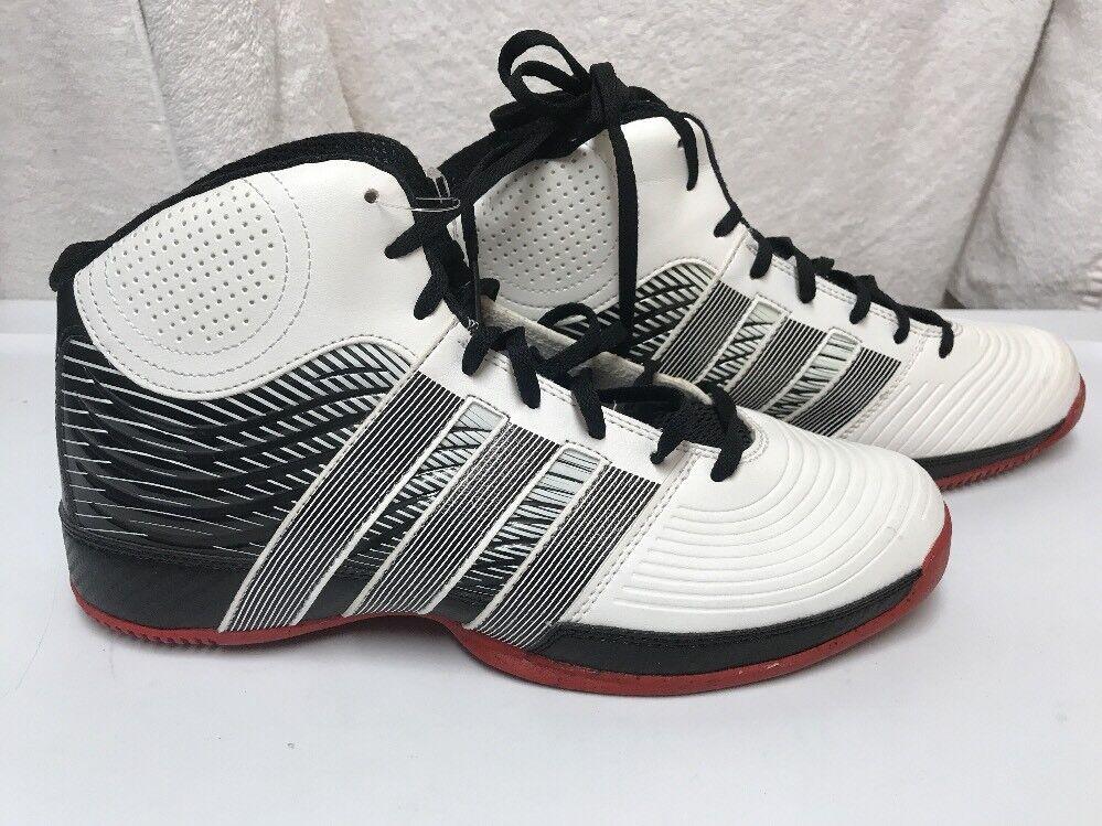 adidas männer commander weiß / schuh rot basketball - schuh schuh / 9,5 linken schuh 10 7e2cc7