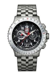 New-Luminox-F-22-RAPTOR-9240-Series-Black-Dial-Men-039-s-Titanium-Watch-XA-9241-M