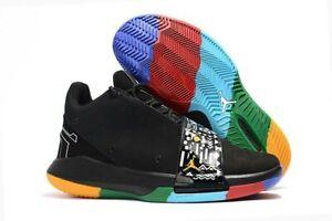 reputable site 9285b e4492 Image is loading Nike-Air-Jordan-CP3-XI-Black-Shoes-Martin-