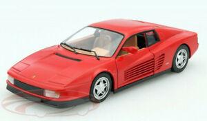 Ferrari-Testarossa-1-24-automovil-de-Fundicion-Modelo-Coches-de-fundicion-Juguete-Miniatura-Rojo