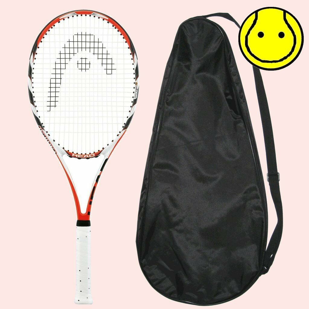 NEW Head MicroGel Radical MP 4-3/8 - STRUNG with COVER  Tennis Racquet
