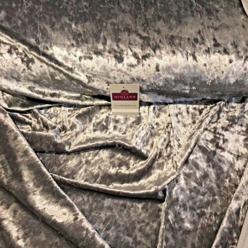 """Glace concassée peluche velours idéal pour robe de tissu large 58/"""" M796 Mtex"""