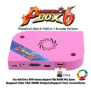 Pandora Box 6 1300 en 1-Jeu d'arcade, Carte de circuit imprimé carte, jamma version