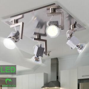 LED Decken Lampe Küchen Beleuchtung silber Flur Spot Strahler verstellbar EEK A